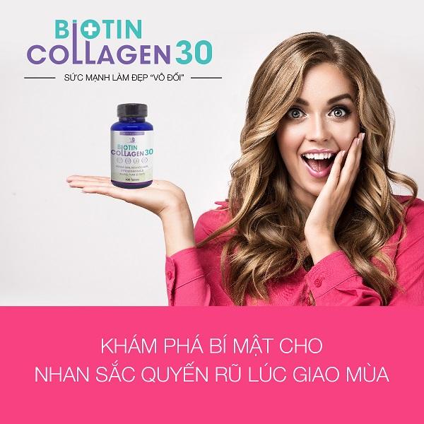 Thực phầm làm đẹp da và tóc Biotin collagen 30