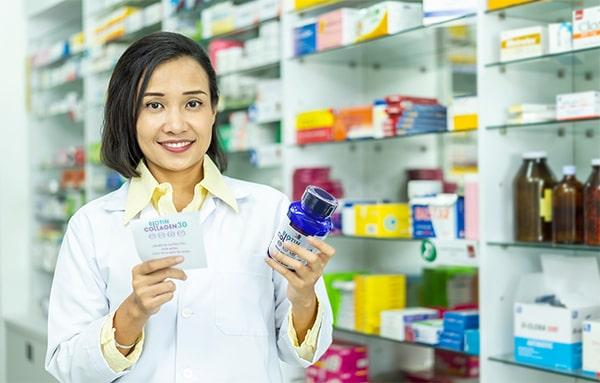 Chữa rụng tóc bằng viên uống biotin collagen 30