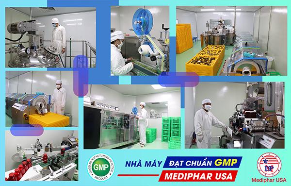 nhà máy đạt chuẩn GMP của Mediphar USA