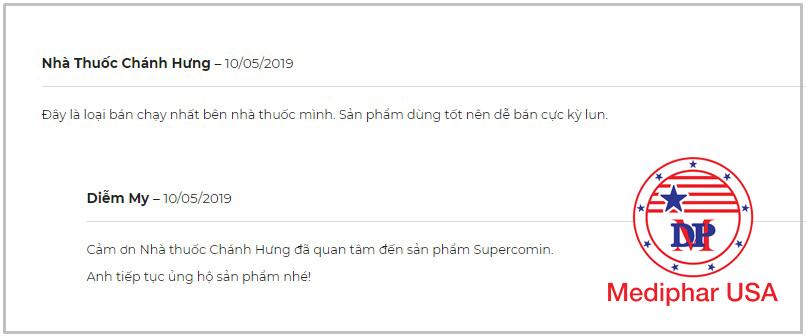 Một số đánh giá viên sủi bọt Supercomin Effervescent
