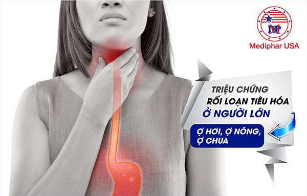 Triệu chứng thường gặp của rối loạn tiêu hóa
