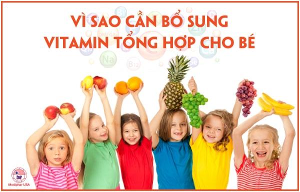 Bổ sung vitamin tổng hợp cho bé