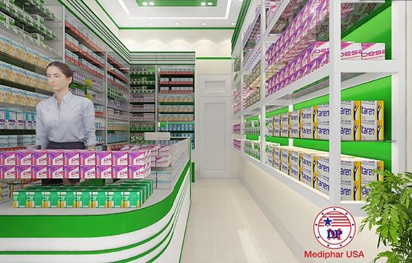 Tủ thuốc của nhà thuốc tây đạt chuẩn GPP