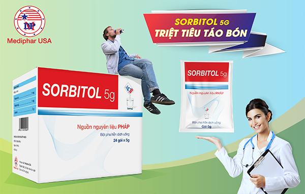 Sorbitol hỗ trợ điều trị táo bón