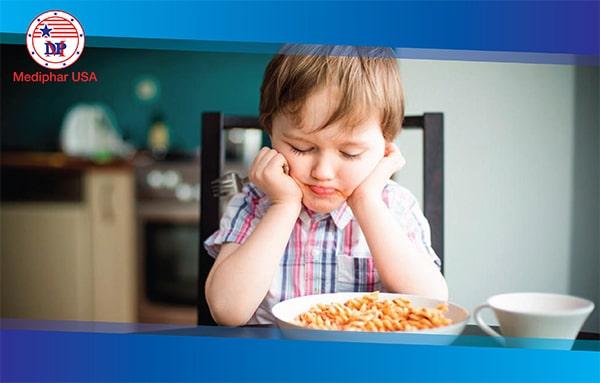 Có khá nhiều trường hợp trẻ biếng ăn chậm tăng cân