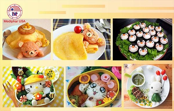 Chuẩn bị những món ăn đa dạng, đẹp mắt, để kích thích sự tò mò, thèm ăn ở trẻ