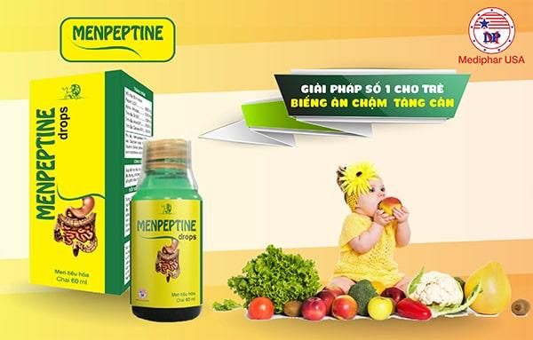 Menpeptine - Giải pháp số 1 cho trẻ biếng ăn chậm tăng cân
