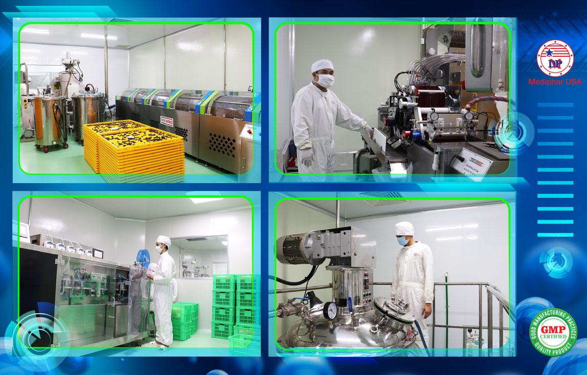 Một số hình ảnh về dây chuyền sản xuất hiện đại tại Mediphar USA