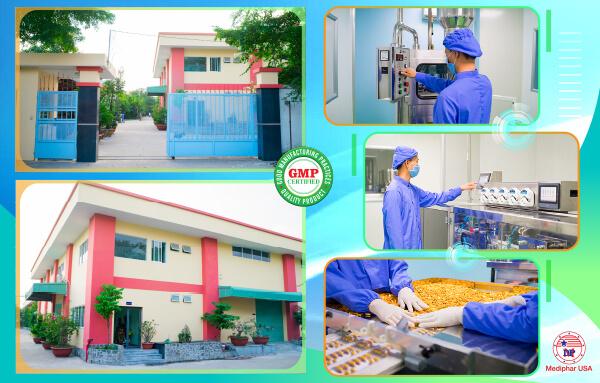 Mediphar USA - Nhà máy sản xuất & kinh doanh thực phẩm chức năng chuẩn GMP