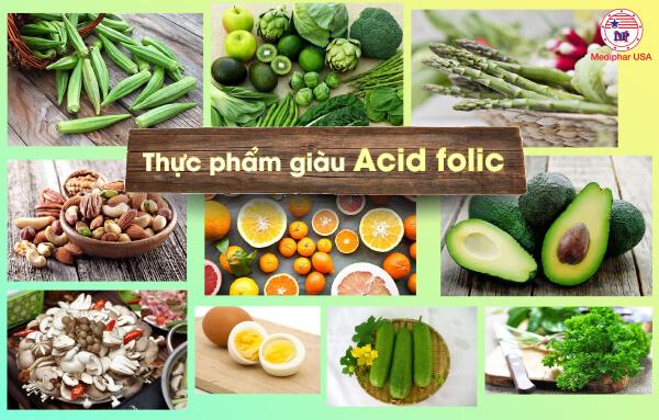 Một số thực phẩm giàu Acid Folic