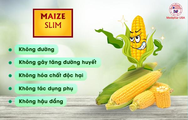 Maize Slim có đủ 5 tiêu chuẩn cần thiết của đường ăn kiêng