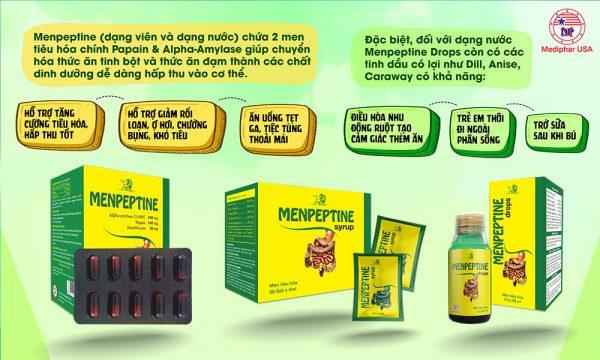 Men tiêu hóa Menpeptine