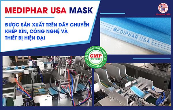Mediphar USA Mask được sản xuất bởi nhà máy chuẩn GMP của Mediphar USA
