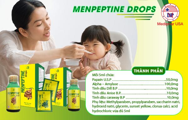 Thành phần có trong Menpeptine Drops