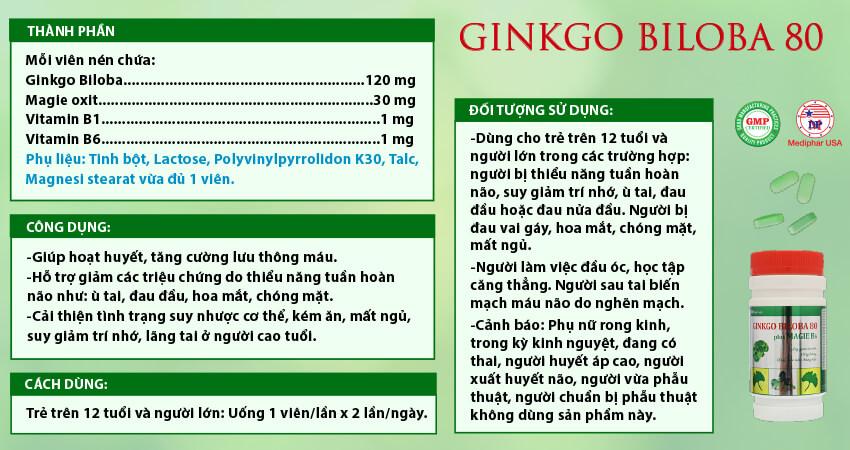 Ginkgo Biloba 80 Plus Magie B6