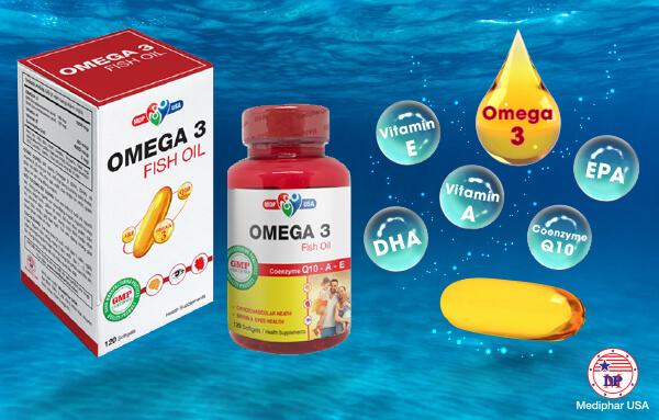 Omega-3 Fish Oil của Mediphar USA