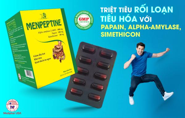 Menpeptine - Men tiêu hóa chứa Simethicone