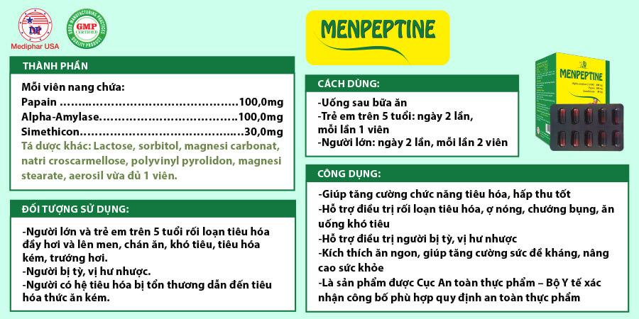 Chi tiết hơn về Menpeptine