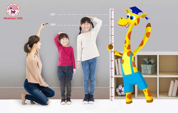 Chiều cao của con nhỏ luôn là vấn đề mà các bà mẹ quan tâm.