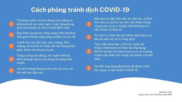 Cách phòng tránh covid 19