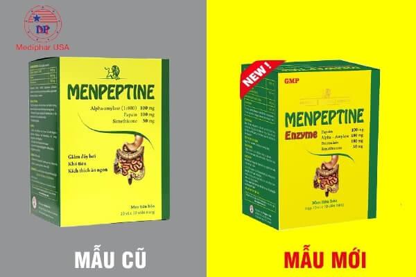 menpeptine cũ và mới