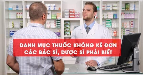 danh mục thuốc không kê đơn