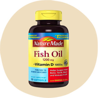 Dầu cá Nature Made 1.200 mg Plus Vitamin D 1.000 IU