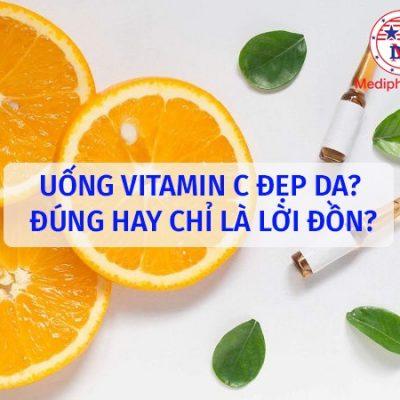 uống vitamin c đẹp da